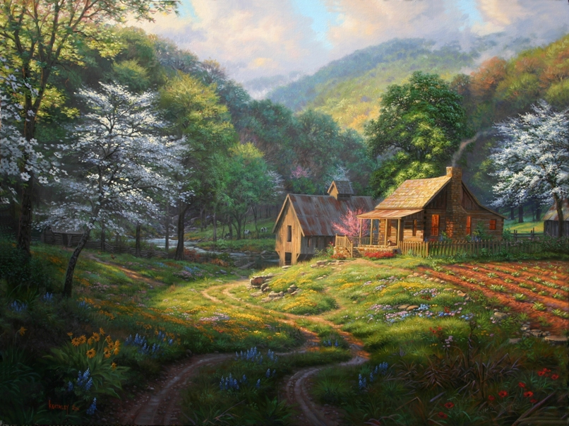 Country Blessings By Mark Keathley As Painted In Stages